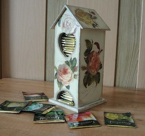 Декупаж на чайната къща със собствените си ръце: идеи