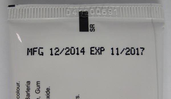 Надпис върху опаковката EXP
