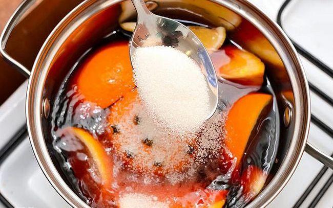 запечено вино с оранжево