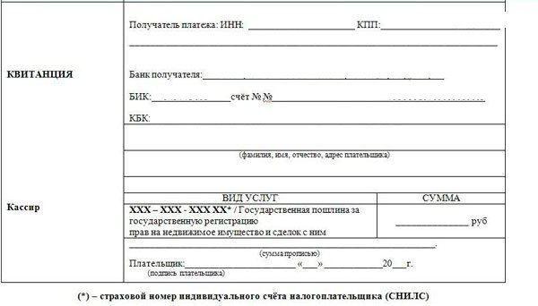 плащане на таксата за държавна регистрация