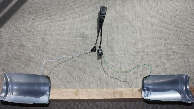 Как да направите антена от бирени кутии