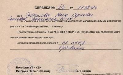 сертификат за голямо семейство