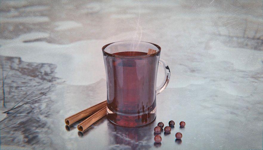 Изсипано вино от червено вино у дома