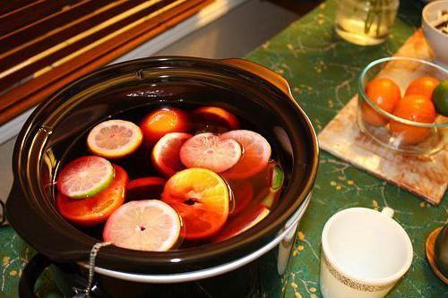 горещо вино в мултивариантна рецепта