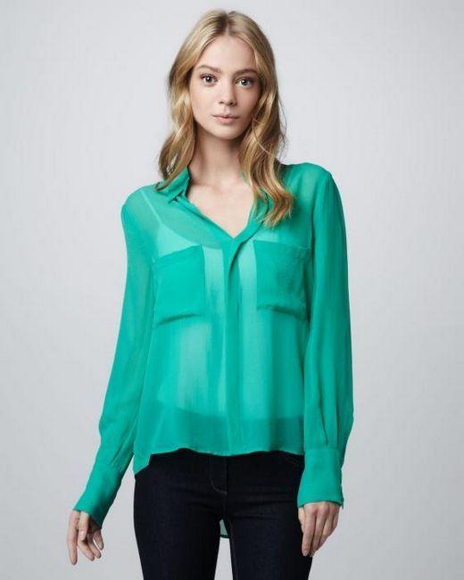 Как да шиете блуза от шифон, модел на блуза със собствените си ръце