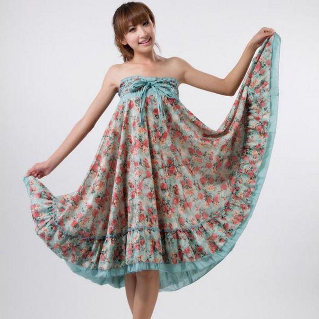 Как да шият една плажна рокля от себе си?