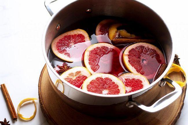 запечено вино с портокали