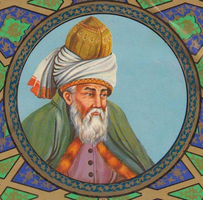 Персийски суфийски поет Джалаладдин Руми: биография, творчество