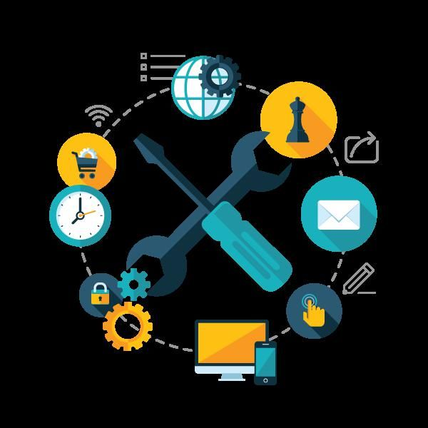 ключ и отвертка - маркетингови символи