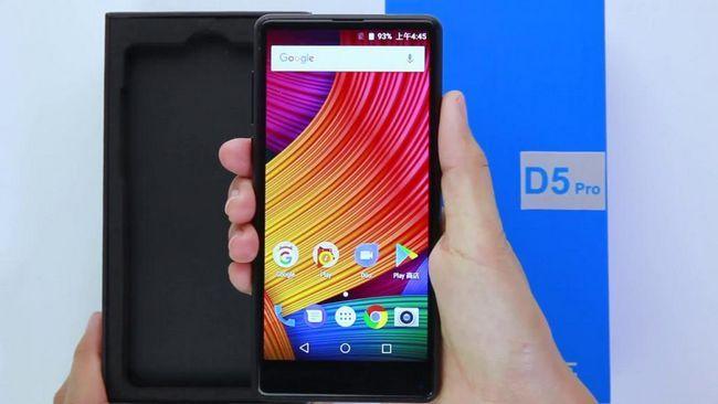 Разгъване на BLUBOO D5 / D5 PRO - смартфон с екран Tri-Bezel-Less и метална кутия