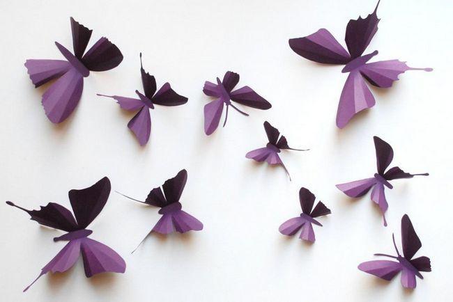 Ръчно изработени занаяти. Как да направите пеперуда?