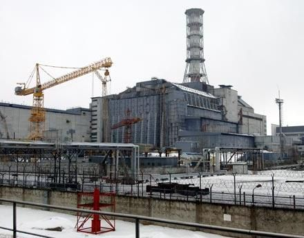 Саркофагът на атомната електроцентрала в Чернобил