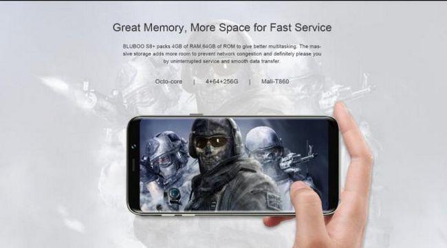 Официалният преглед на смартфона BLOBOO S8 + без рамки