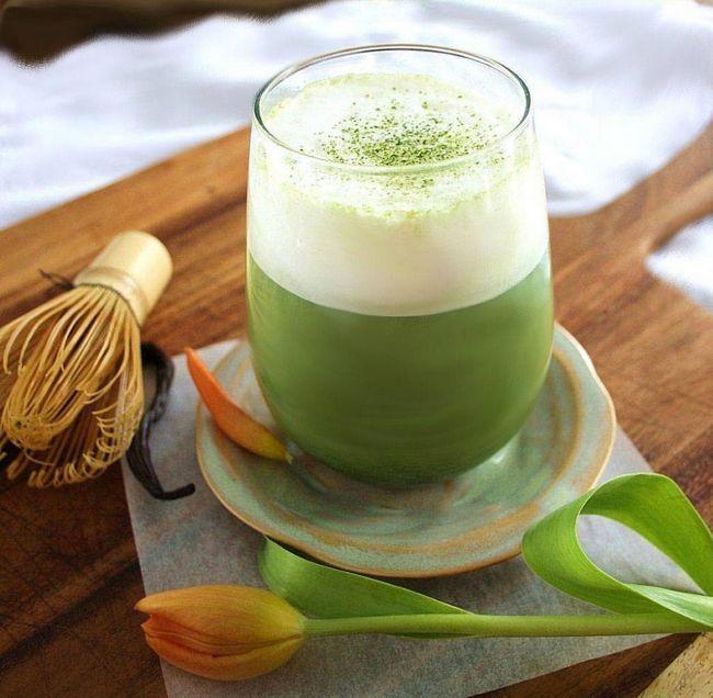 студен зелен чай с мляко